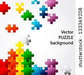 colorful puzzle vector design | Shutterstock .eps vector #133369208
