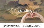 take a look at what's trending... | Shutterstock . vector #1333696598