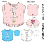vector illustration of t shirt. ... | Shutterstock .eps vector #1333706345