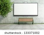 blank street billboard on... | Shutterstock . vector #133371002