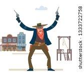 robbery. wild west. wild west...   Shutterstock .eps vector #1333722758