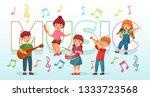 kids playing music. children...   Shutterstock .eps vector #1333723568