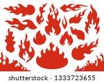 blazing fire flames. flaming... | Shutterstock .eps vector #1333723655