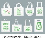 eco fabric bag. say no to... | Shutterstock .eps vector #1333723658