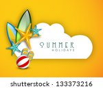 summer holidays background with ... | Shutterstock .eps vector #133373216
