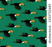 wildlife birds print. seamless... | Shutterstock .eps vector #1333732685