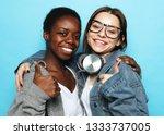 shot of happy interracial...   Shutterstock . vector #1333737005