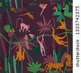 colorful wildlife animals print.... | Shutterstock .eps vector #1333742375