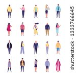 casual people characters set... | Shutterstock .eps vector #1333766645