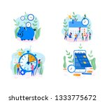 effective time management  save ... | Shutterstock .eps vector #1333775672