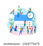 effective time management  save ... | Shutterstock .eps vector #1333775675