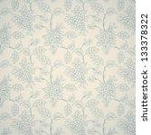 blue floral ornament on light... | Shutterstock .eps vector #133378322