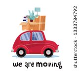 we are moving lettering concept.... | Shutterstock .eps vector #1333784792
