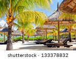 relaxing at the beach ... | Shutterstock . vector #133378832