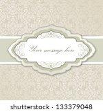 vintage frame. retro floral... | Shutterstock .eps vector #133379048