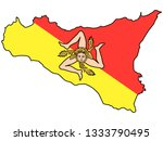 flag and map combination of the ... | Shutterstock .eps vector #1333790495