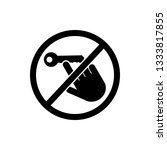 don't touch  key icon. element... | Shutterstock . vector #1333817855