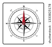 compass icon.compass icon on...   Shutterstock .eps vector #1333825178