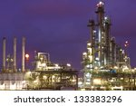 petrochemical plant in night... | Shutterstock . vector #133383296