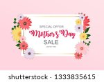 happy mother s day cute sale... | Shutterstock .eps vector #1333835615