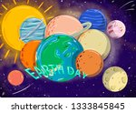 the earth day | Shutterstock . vector #1333845845