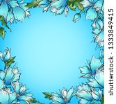 flower peony blue   Shutterstock . vector #1333849415