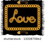 golden chain lace with safety... | Shutterstock .eps vector #1333870862
