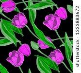 spring floral seamless pattern... | Shutterstock . vector #1333883672