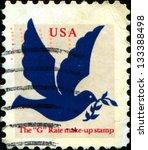 usa   circa 1999  a stamp... | Shutterstock . vector #133388498