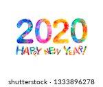 congratulation card. happy new...   Shutterstock .eps vector #1333896278