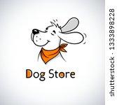 Logo Of Happy Dog In Bandana....