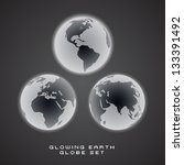 glowing eps10 vector earth... | Shutterstock .eps vector #133391492