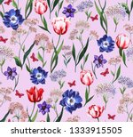 watercolor botanical   floral... | Shutterstock . vector #1333915505