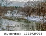 cedar river in waverly  iowa... | Shutterstock . vector #1333929035