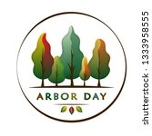 national arbor day text  ... | Shutterstock .eps vector #1333958555