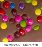 chocolate bar with colorful... | Shutterstock . vector #133397528