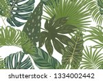 seamless pattern with tropical... | Shutterstock .eps vector #1334002442