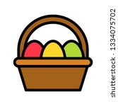 easter egg basket vector ...   Shutterstock .eps vector #1334075702