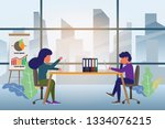 coworking space with creative... | Shutterstock .eps vector #1334076215