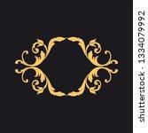 gold baroque ornament. retro... | Shutterstock .eps vector #1334079992
