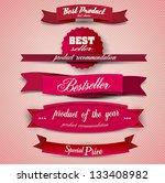 bestseller. set of red superior ... | Shutterstock .eps vector #133408982