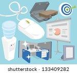 office objects set | Shutterstock .eps vector #133409282