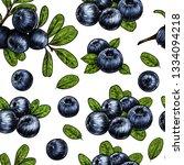 juicy blueberry. vector... | Shutterstock .eps vector #1334094218