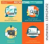 flat banner set recruiting... | Shutterstock .eps vector #1334124152