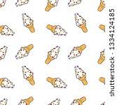 ice cream cone. cartoon print.... | Shutterstock .eps vector #1334124185