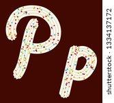 tempting typography. font... | Shutterstock .eps vector #1334137172