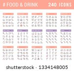 big collection of linear icons. ... | Shutterstock .eps vector #1334148005