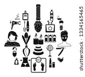 cosmetology icons set. simple... | Shutterstock .eps vector #1334165465