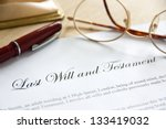 last will and testament concept ... | Shutterstock . vector #133419032