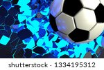 soccer ball breaking with great ...   Shutterstock . vector #1334195312